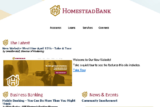 Example newsletter of Homestead Bank